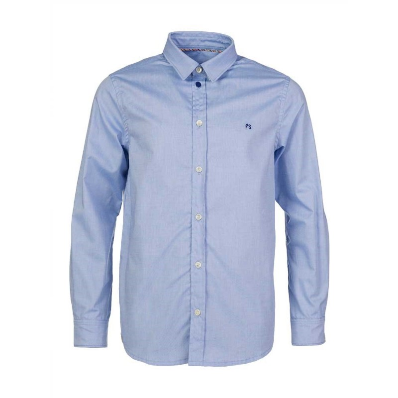 Paul Smith Junior Blue Classic Fit Trim Shirt