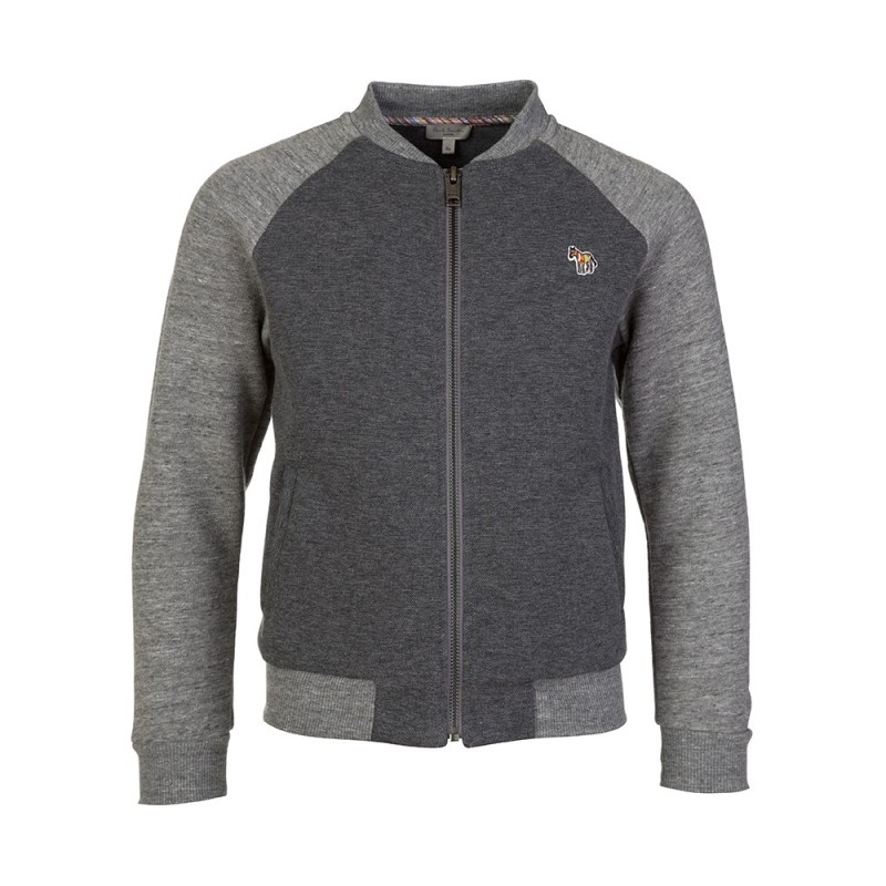 Paul Smith Junior Grey Zebra Logo Zip Jacket