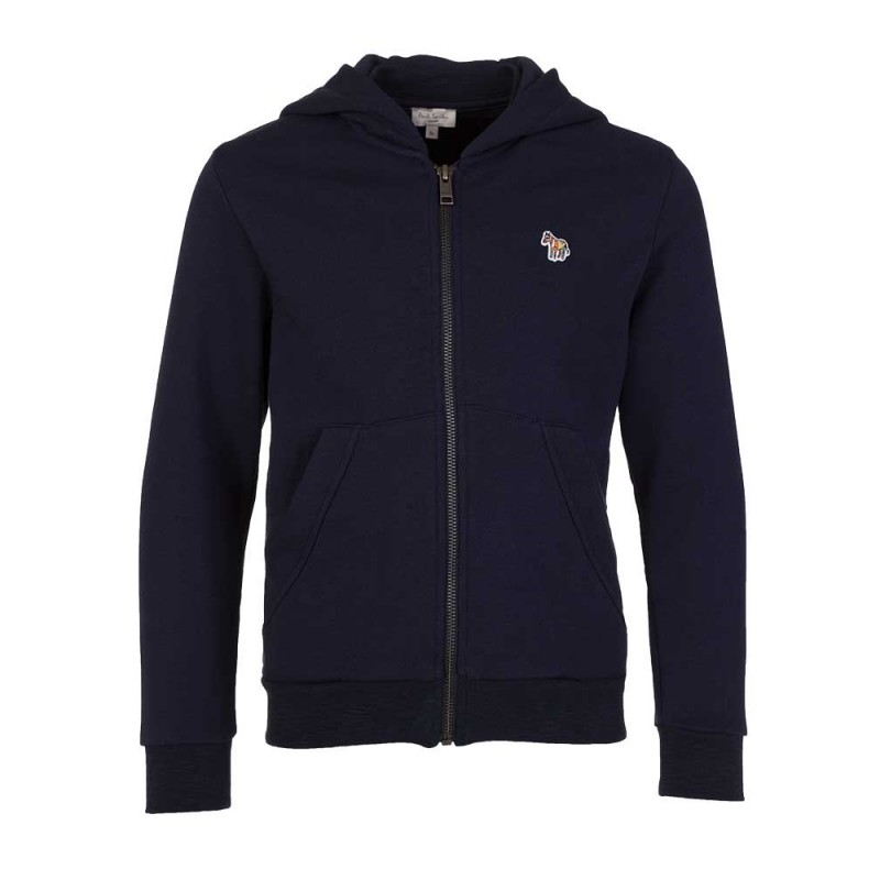 Paul Smith Junior Navy Logo Hoodie