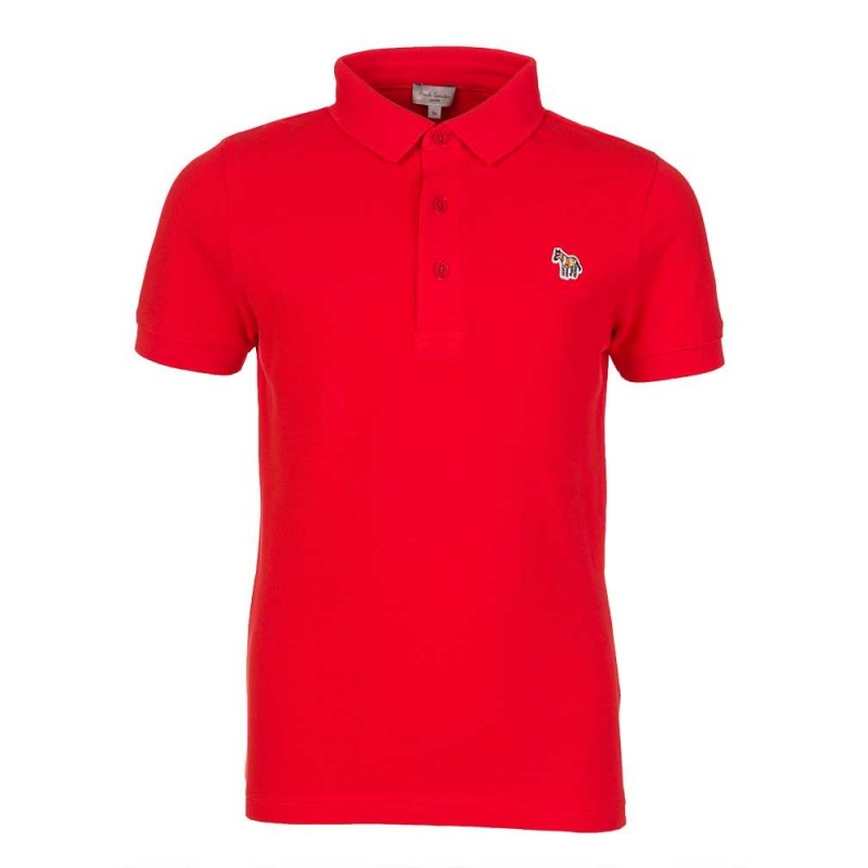 Paul Smith Junior Red Logo Polo Shirt