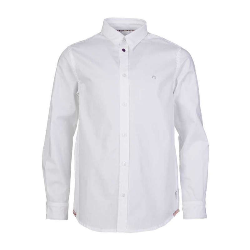 Paul Smith Junior White Classic Fit Trim Shirt