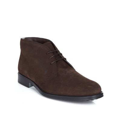 Tod's Brown Lace Up Suede Boots