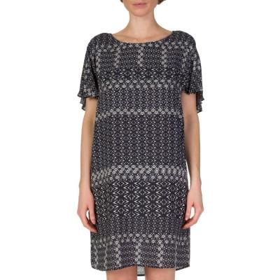 Velvet Black Printed Ruffle Back Dress