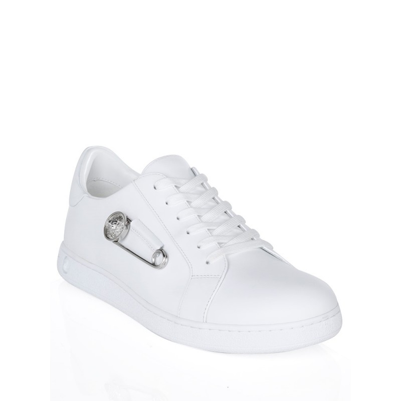 Versus Versace White Safety Pin Low Top Trainers