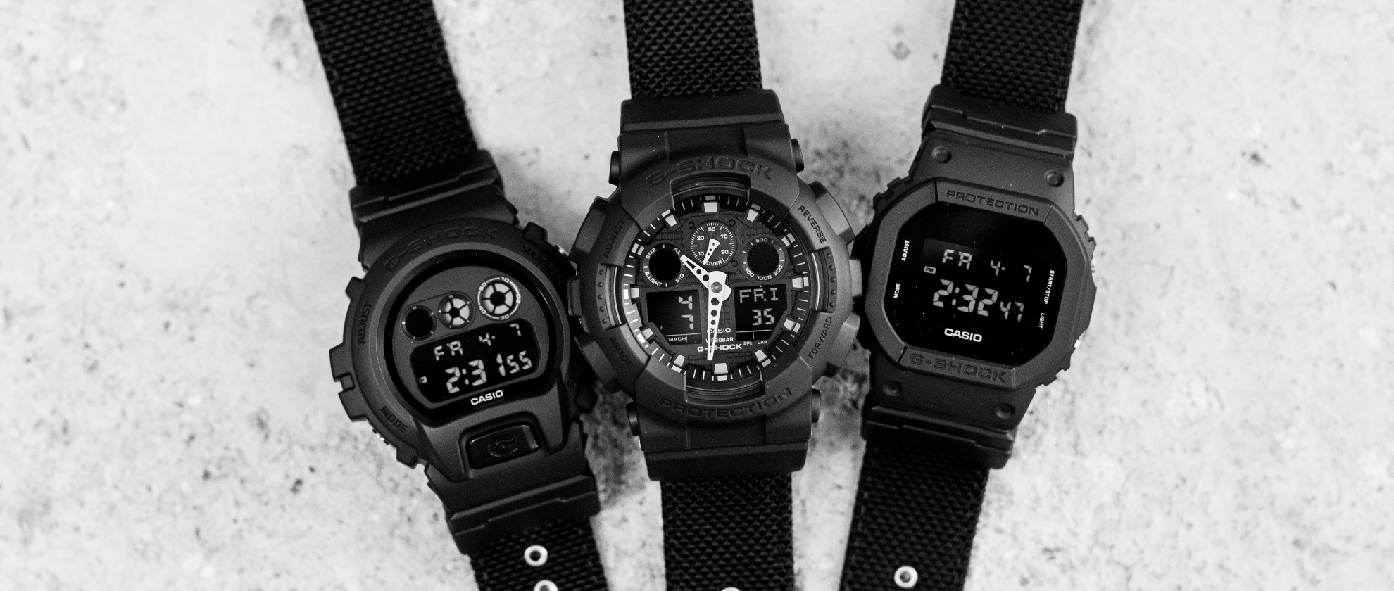G-Shock's Black Out Collection