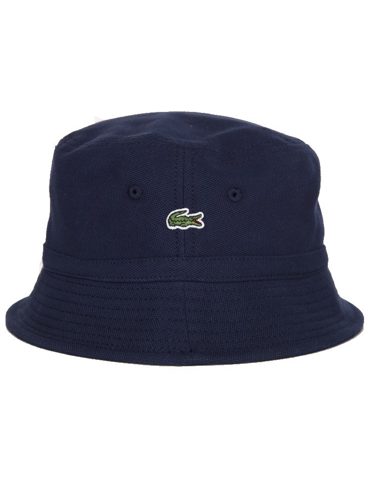 Lacoste Navy Blue Logo Bucket Hat