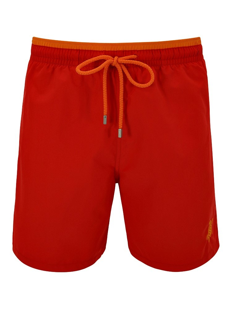 Vilebrequin Red Colour Panel Swim Shorts
