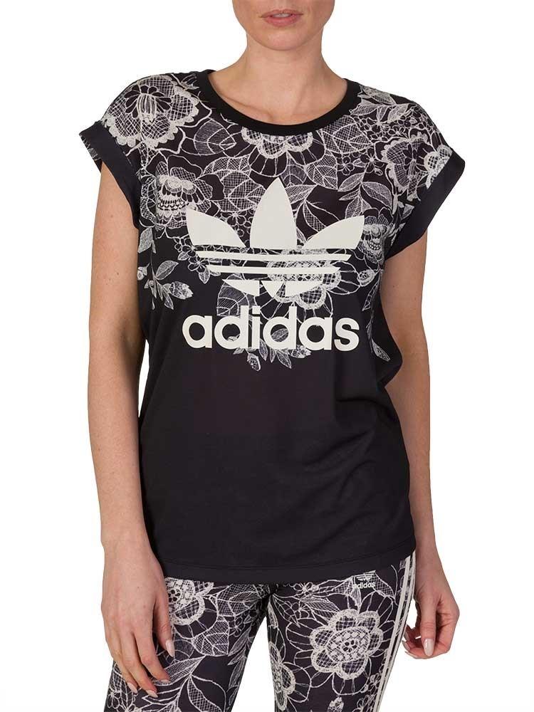 Adidas Black Florido T-Shirt