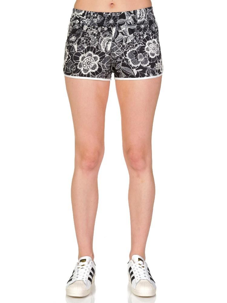 Adidas Black Lace Print Shorts