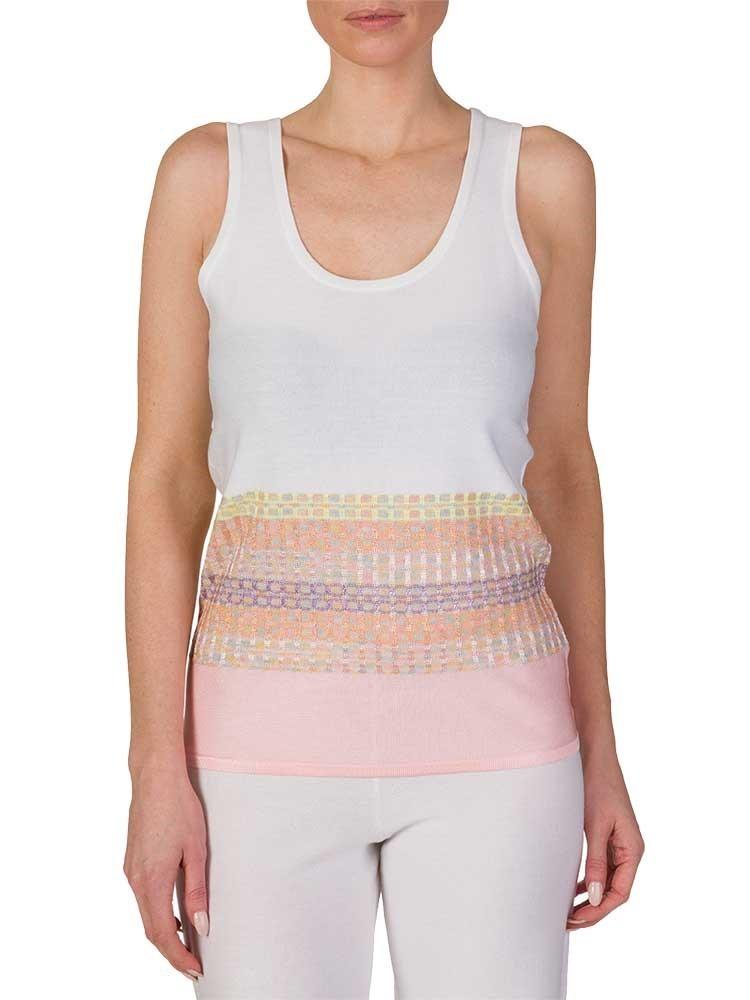 Ruth Erotokritou White Multicoloured Knit Vest