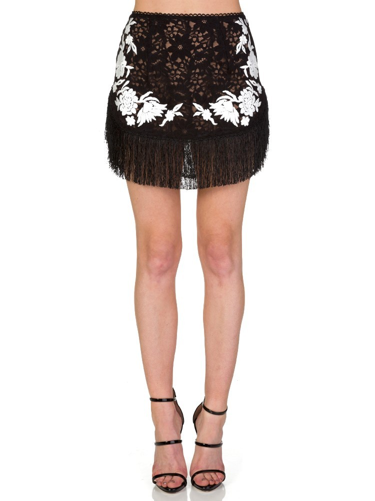 For Love and Lemons Black Matador Skirt