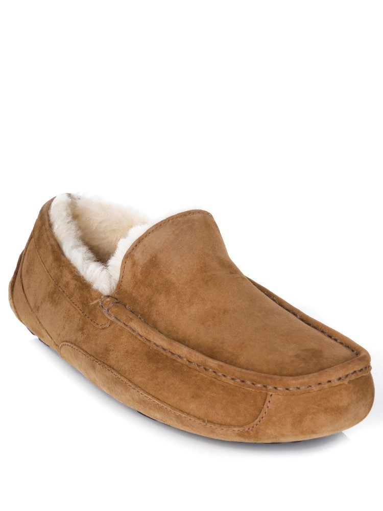 UGG Chestnut Suede Ascot Slippers