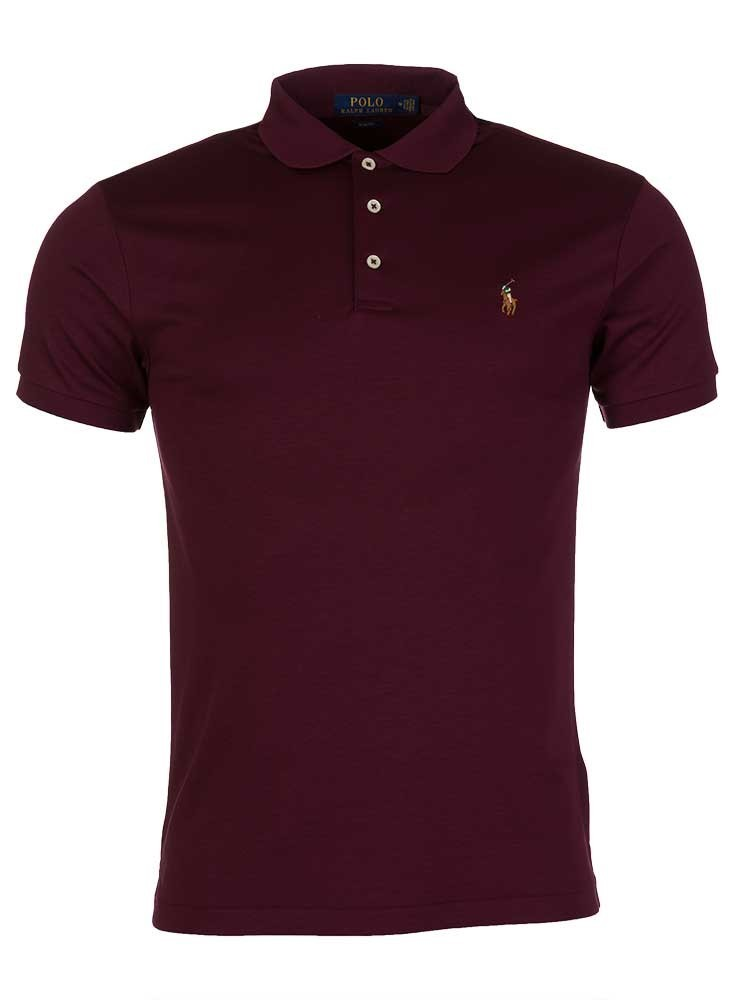Polo Ralph Lauren Burgundy Soft-Touch Slim Polo T-Shirt
