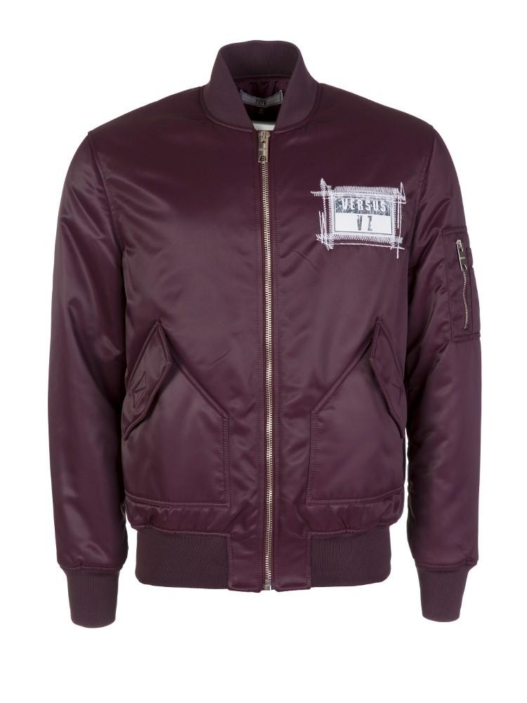 Versus Versace Zayn Burgundy Bomber Jacket