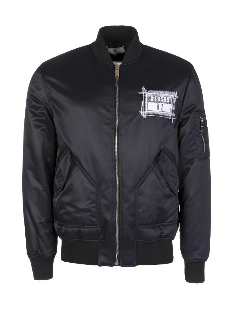 Versus Versace Zayn Black Bomber Jacket