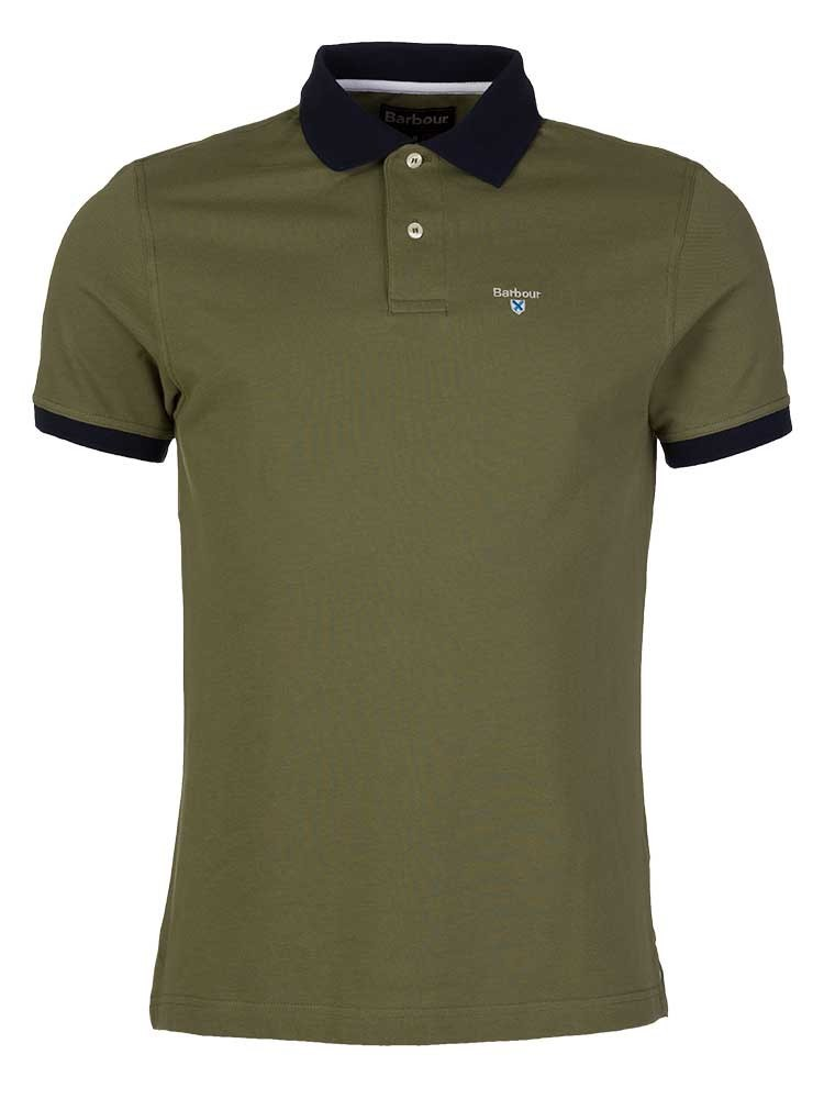 Barbour Olive Green Lynton Polo Shirt