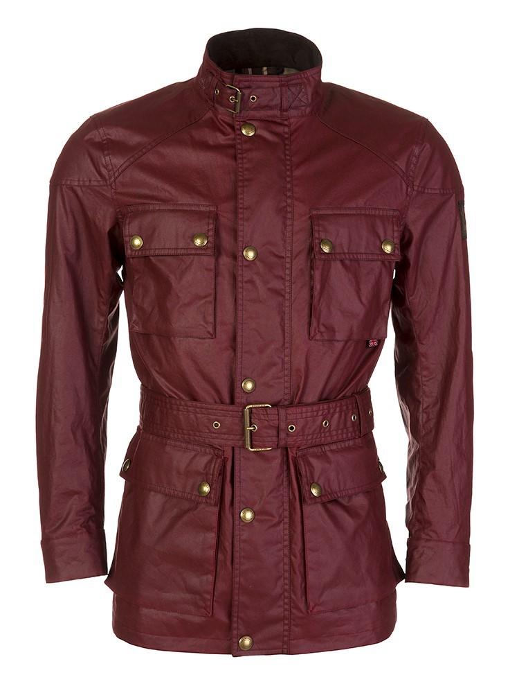 Belstaff Burgundy Roadmaster Jacket