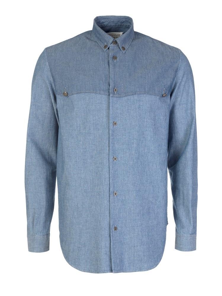 Maison Margiela Indigo Denim Long Sleeve Shirt