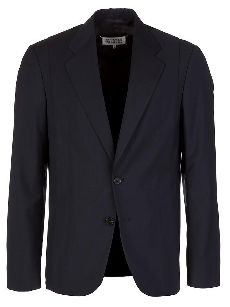 Maison Margiela Navy Fitted Suit Jacket