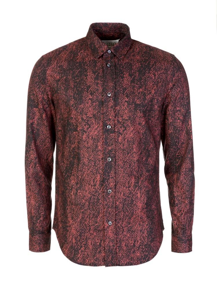 Maison Margiela Black Print Long Sleeved Shirt