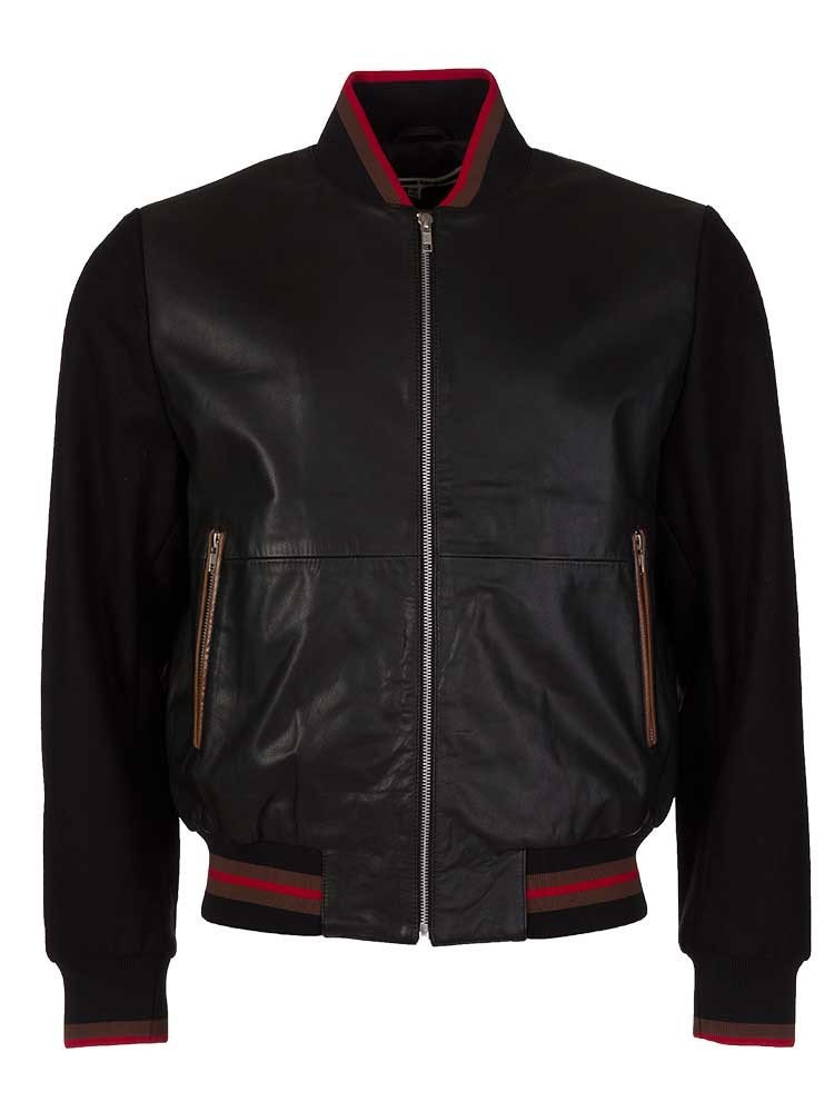 McQ by Alexander McQueen Black Bomber Jacket