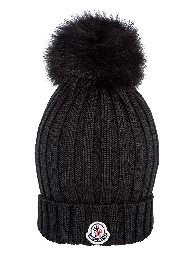 Moncler Black Bobble Hat