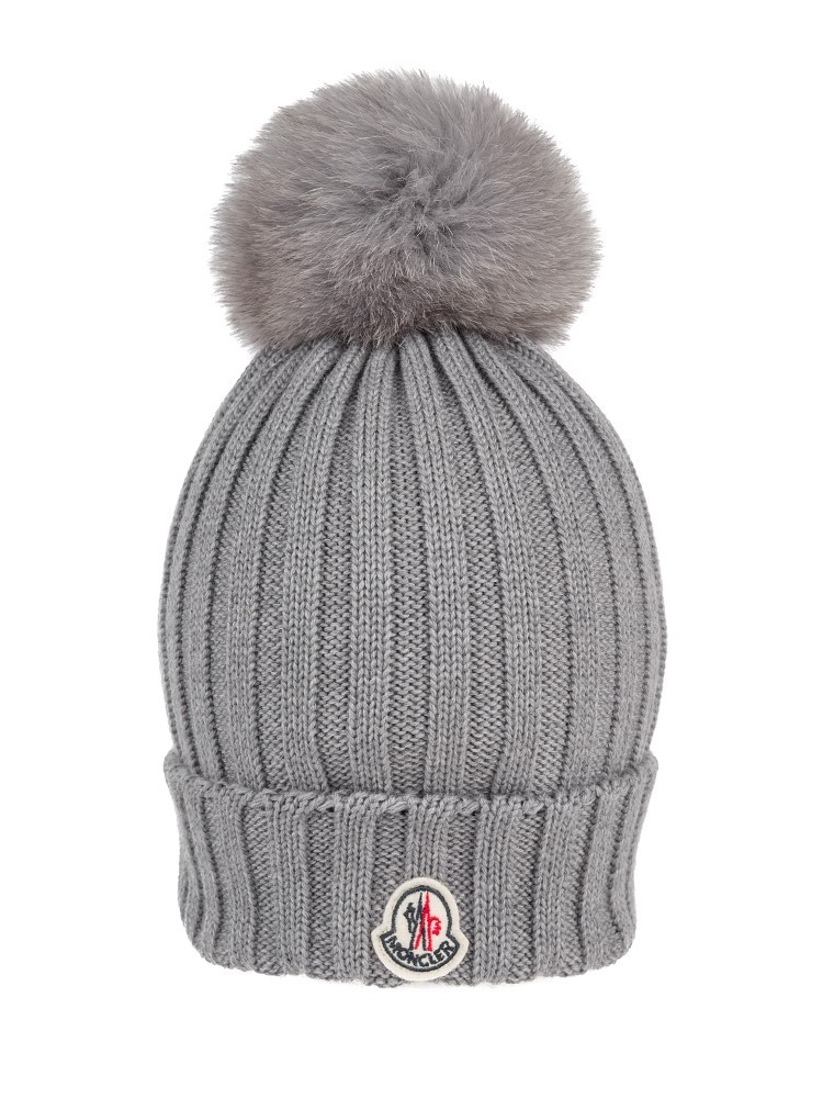 Moncler Grey Bobble Hat