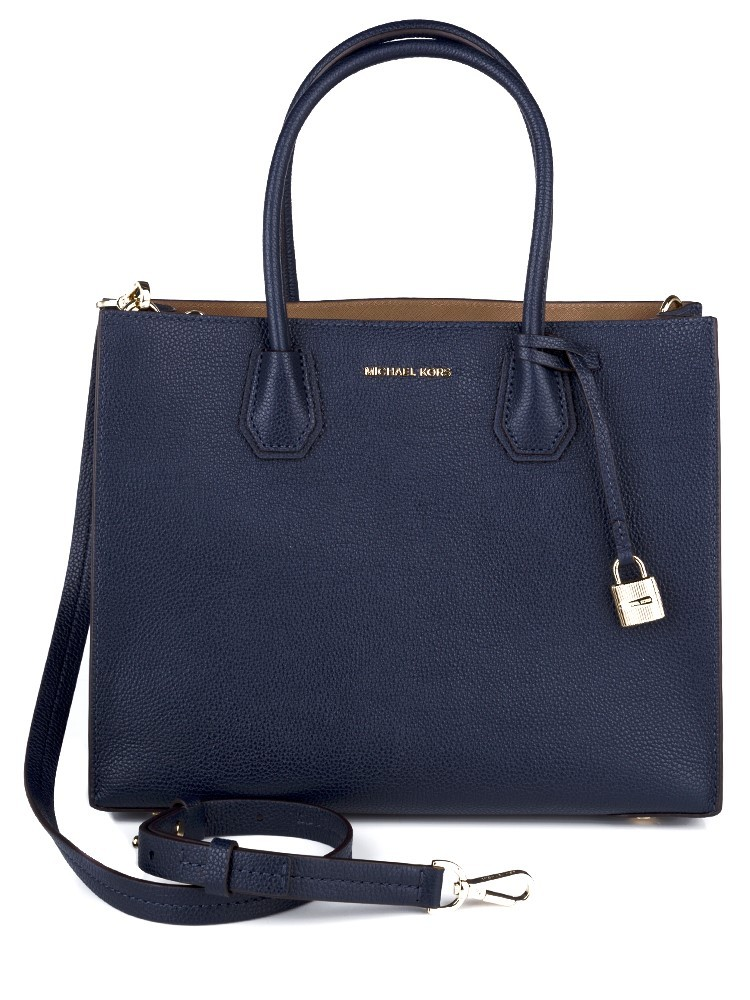 Michael Kors Navy Mercer Large Tote Bag