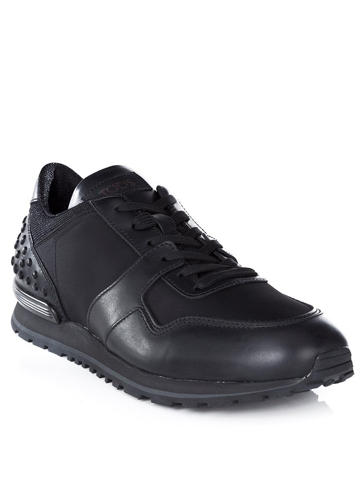 Tod's Black Running Nylon & Leather Trainers