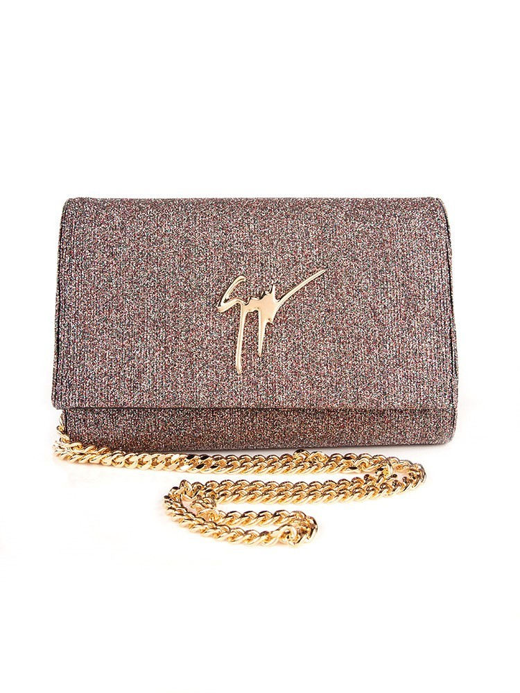 Giuseppe Zanotti Multicoloured Gold Sparkle Bag