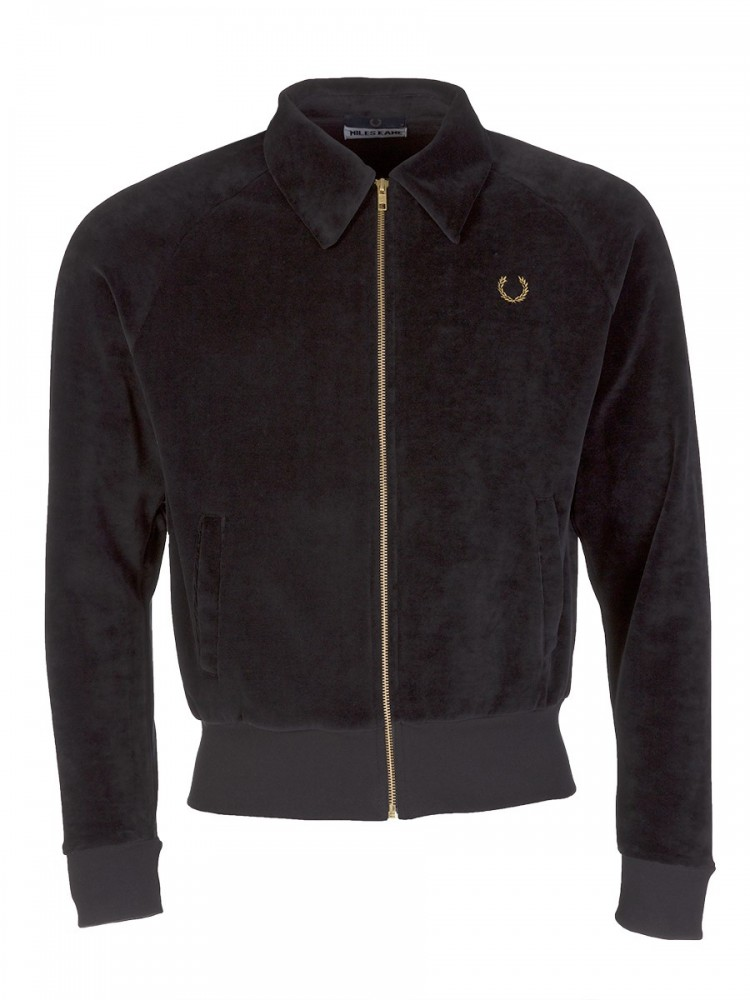 Fred Perry X Miles Kane Black Velvour Track Jacket