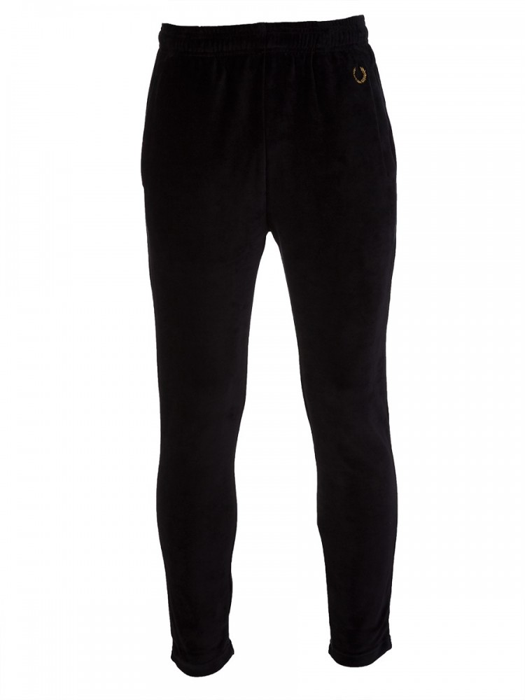 Fred Perry x Miles Kane Black Velour Sweatpants