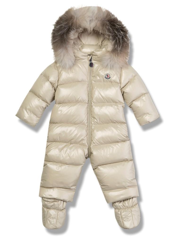 Moncler Baby Cream Snowsuit