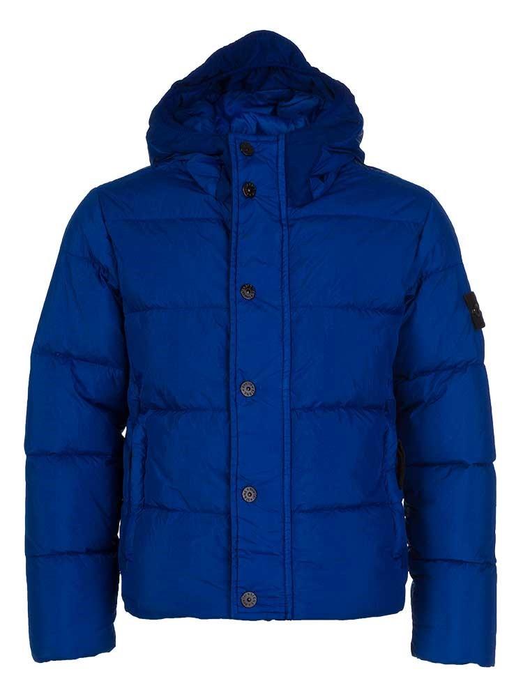 Stone Island Junior Blue Hooded Puffer Coat