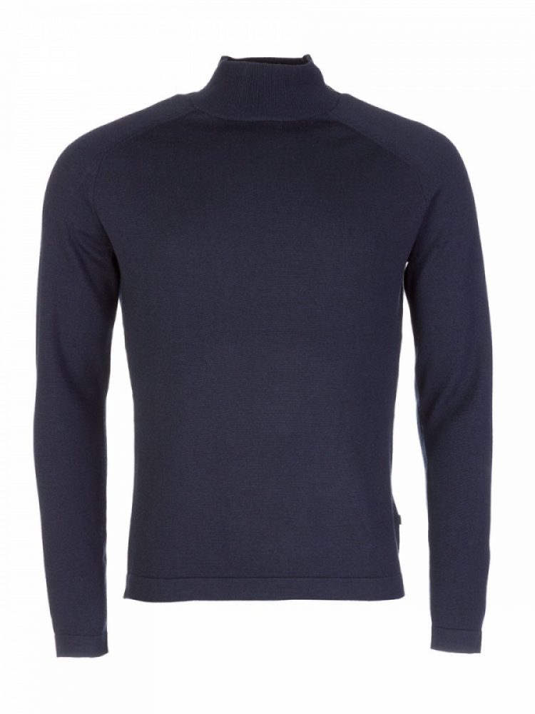 J. Lindeberg Navy Mens Turtleneck