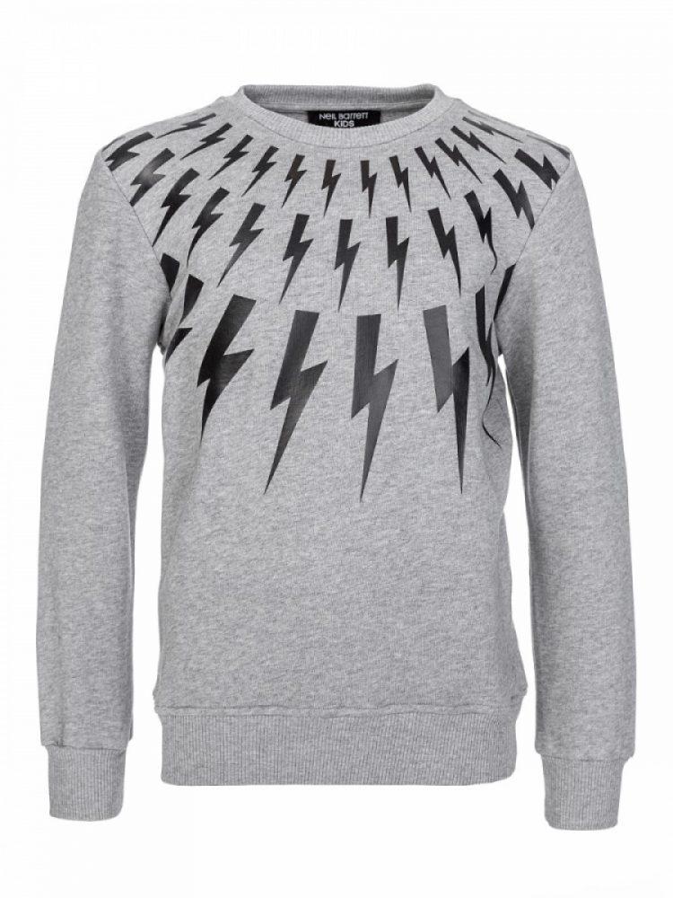 Neil Barrett Kids Grey Lightning Sweatshirt