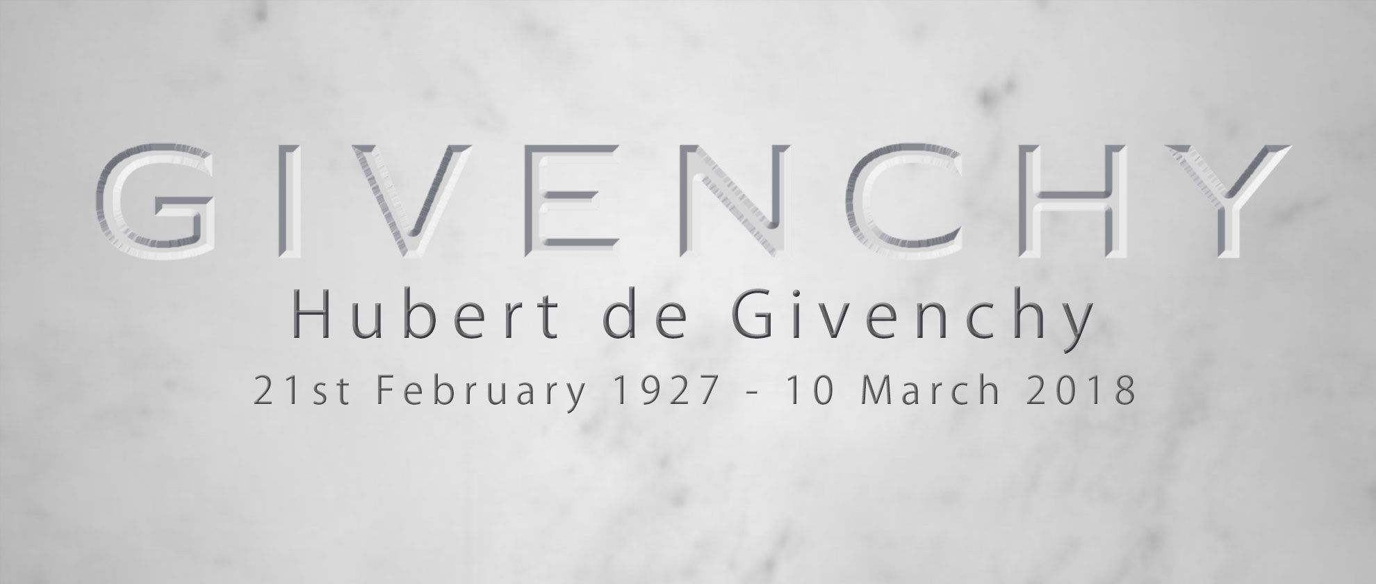 The Founder of Fashion House Givenchy has died