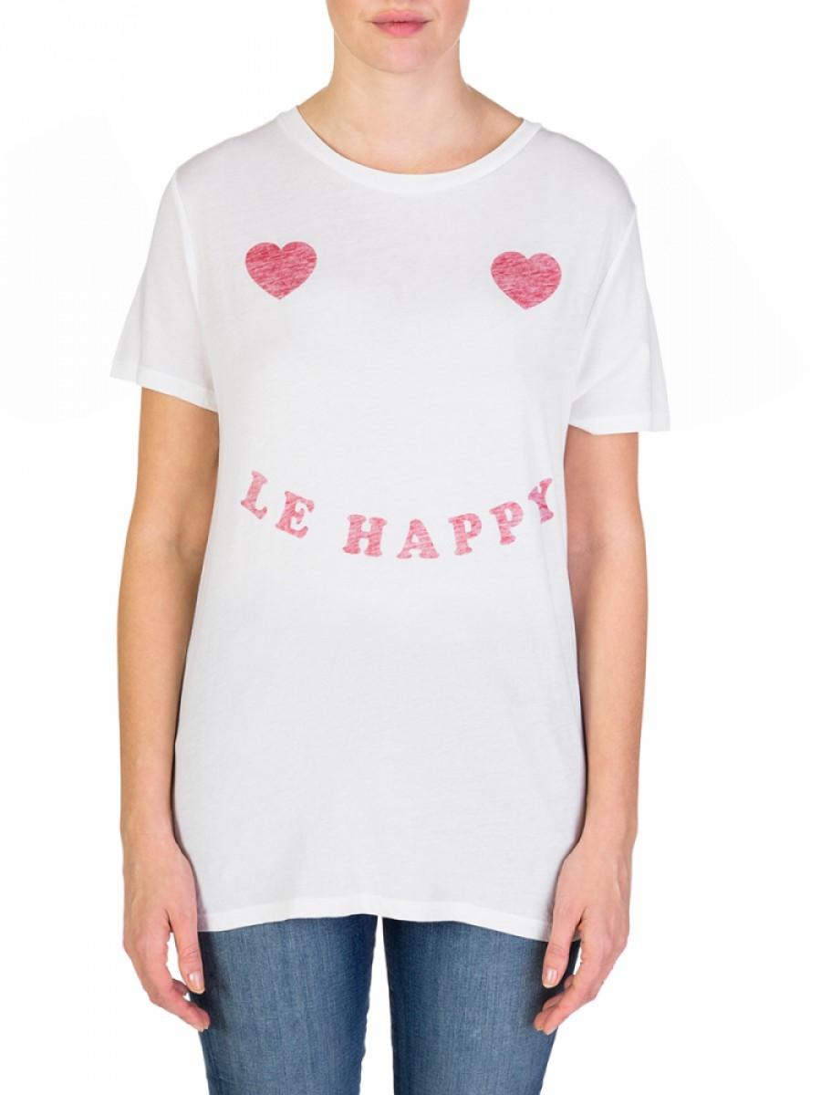 Zoe Karssen White Le Happy T-Shirt