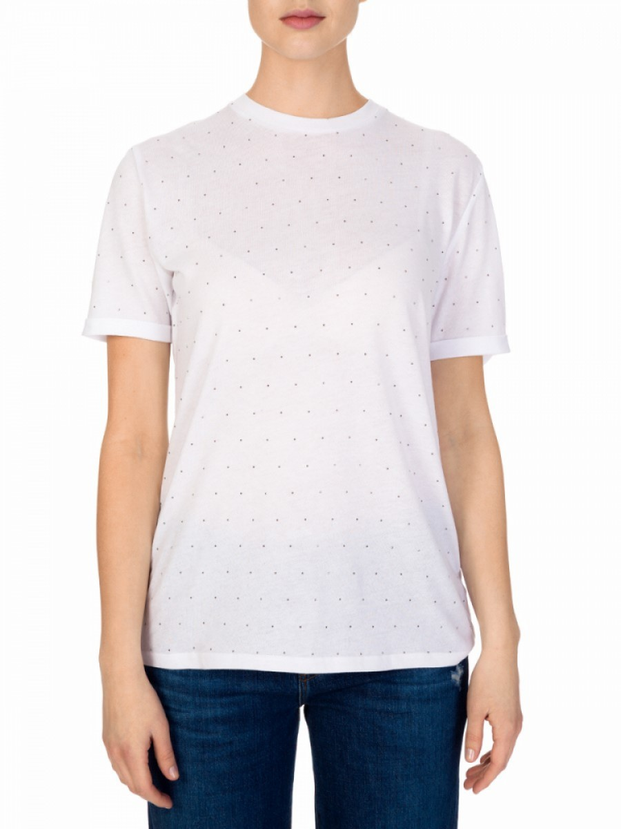 Zoe Karssen White Studded T-Shirt