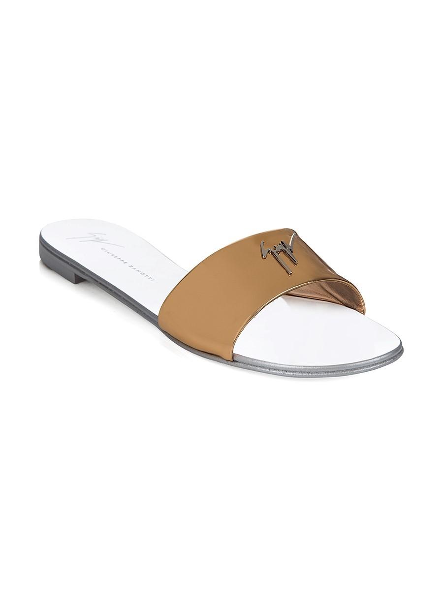 Giuseppe Zanotti Rose Gold Flat Sandal