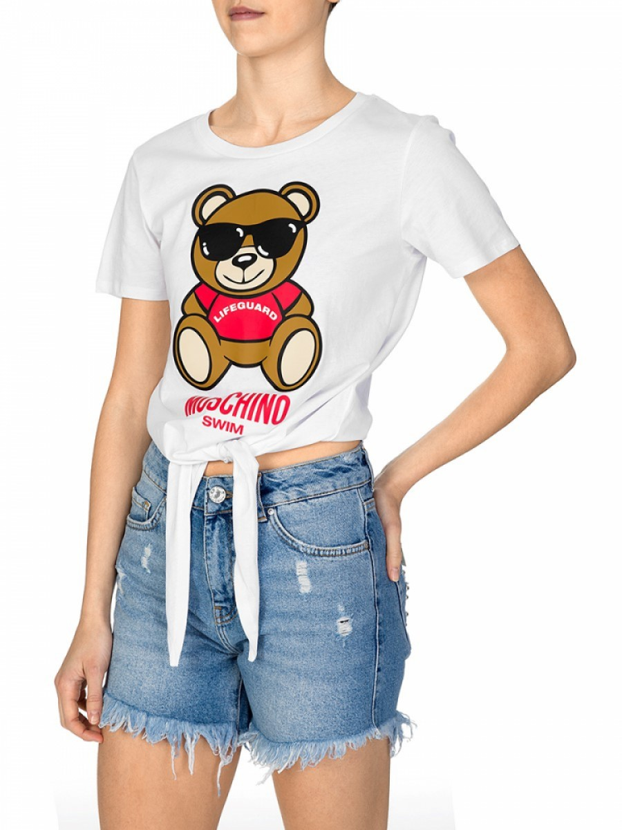 Tap to Zoom  ZEECODE: 74649  Moschino  Moschino Swim White Tie Top