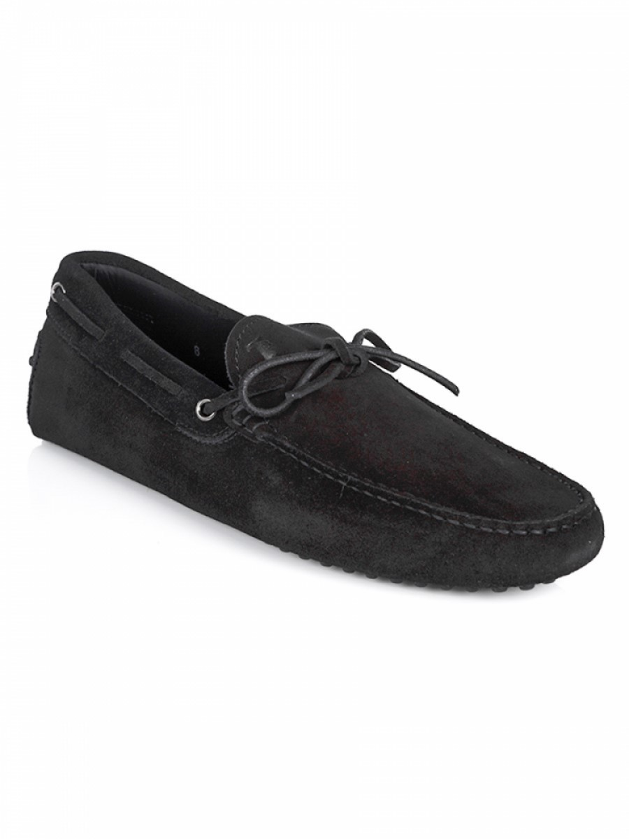 Tod's Black Suede Driving Shoe