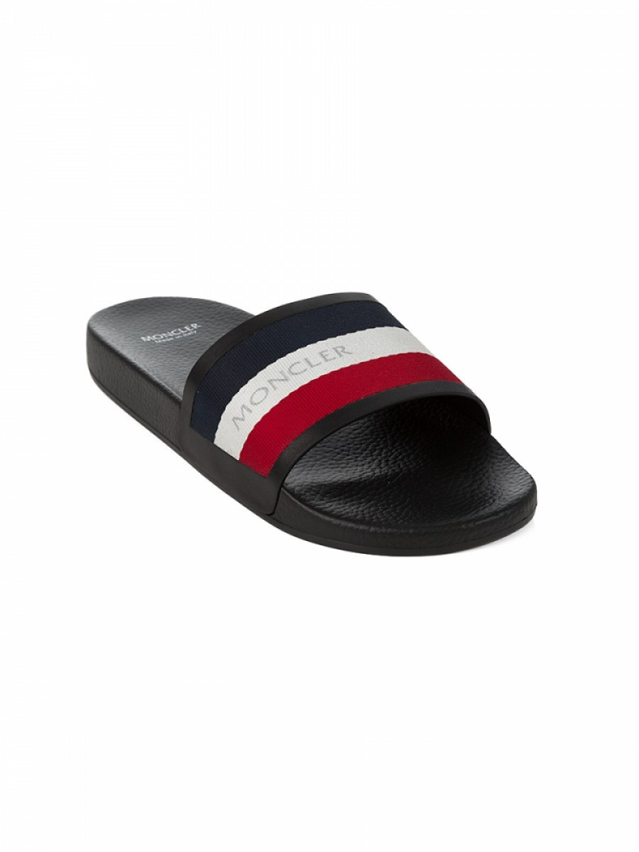 Moncler New Basile Navy Sliders