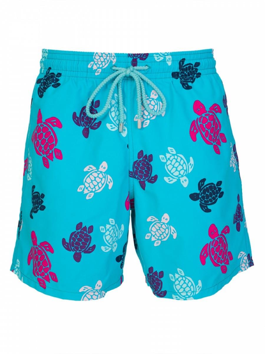 Vilebrequin Turquoise Turtle Multi Print Swim Shorts