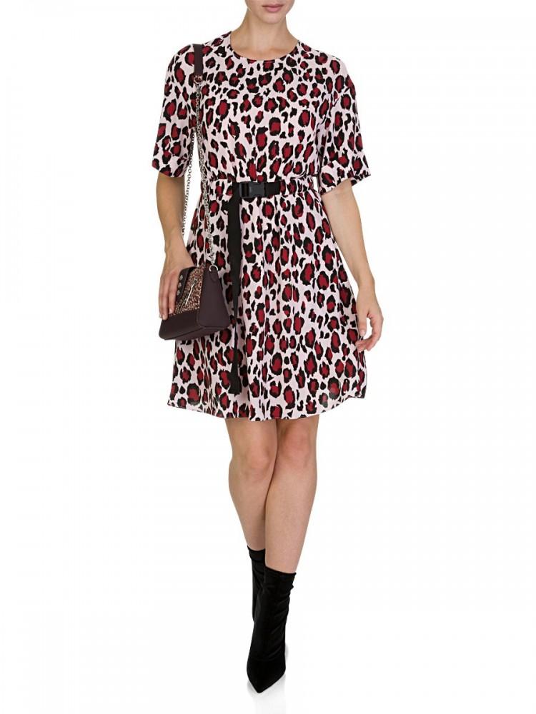 Kenzo Pink Leopard Print Dress