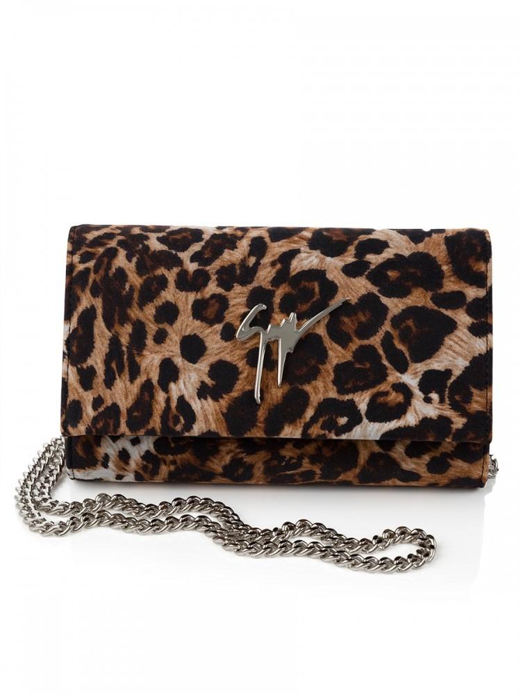 Giuseppe Zanotti Leopard Clutch Bag
