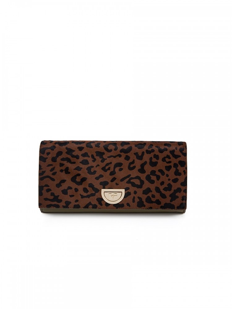 Diane Von Furstenberg Brown Leopard Clutch Bag