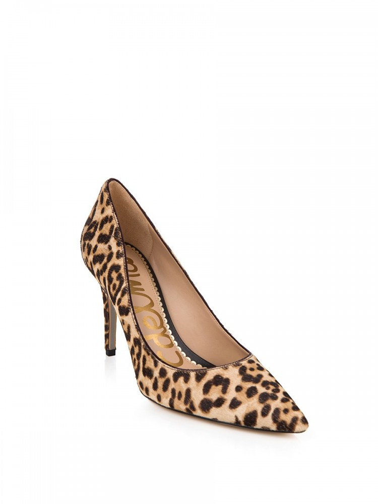Sam Edelman Nude Leopard Print Heels