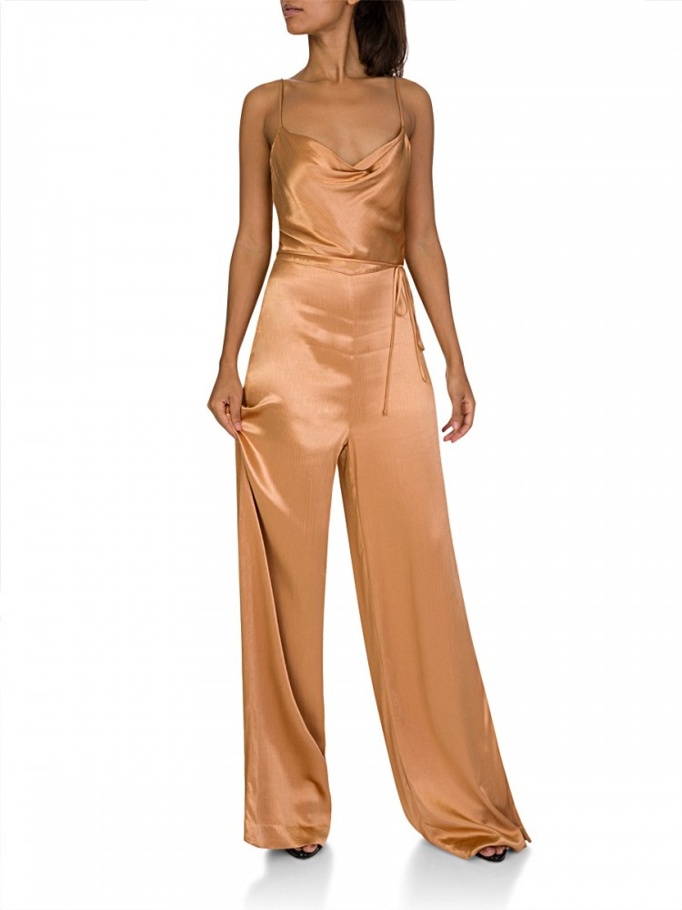 Bec + Bridge Gold Feel The Heat Jumpsuit