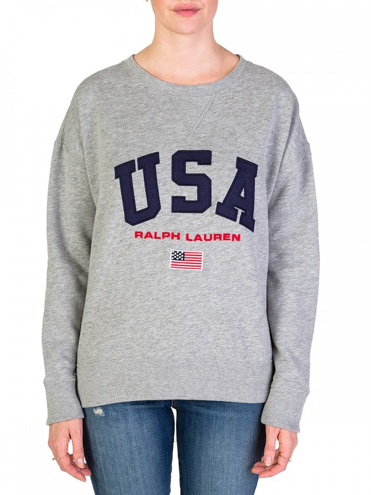 Polo Ralph Lauren Grey USA Sweatshirt